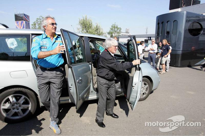 Flavio Briatore y Bernie Ecclestone
