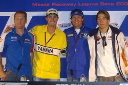 Conférence de presse : Kenny Roberts, Colin Edwards, Sete Gibernau et Nicky Hayden