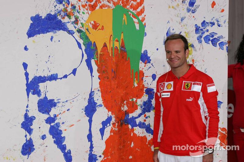 Evento de Vodafone en Hockenheim Talhaus: Rubens Barrichello y su obra