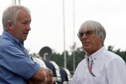 Charlie Whiting and Bernie Ecclestone