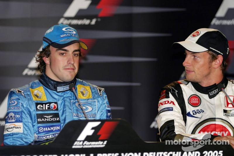 Conferencia de prensa: ganador de la carrera Fernando Alonso con Jenson Button
