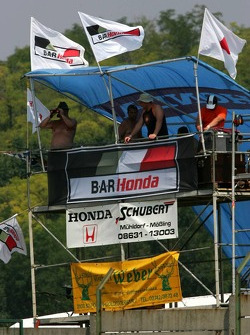 Fans at the Hungaroring