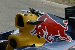 Damage on Christian Klien's car