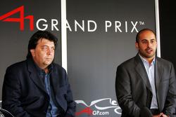 His Highness Sheikh Maktoum Hasher Maktoum Al Maktoum, CEO A1 Grand Prix, gives a press conference