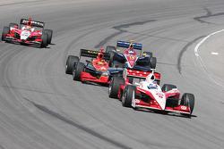 Scott Dixon leads the pack through corner 4