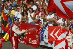 Podium: champagne for Sébastien Loeb