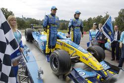 Giancarlo Fisichella and Fernando Alonso