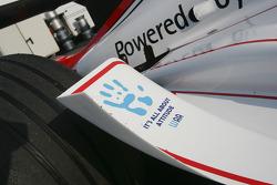 WAA sticker on the car of Nico Rosberg
