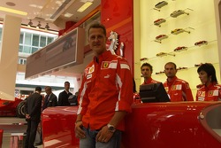 Ferrari store in Milan: Michael Schumacher
