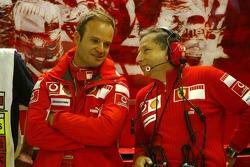 Rubens Barrichello and Jean Todt