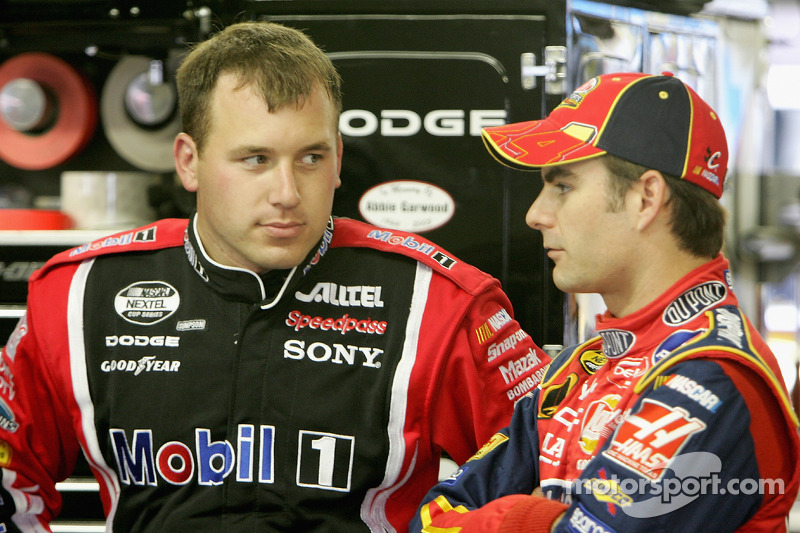 Ryan Newman y Jeff Gordon