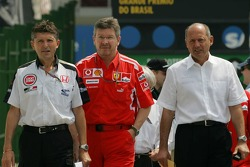 Nick Fry, Ross Brawn y Ron Dennis