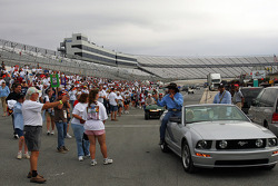 Richard and Kyle Petty lead the NASCAR Track Charity Walk