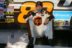 Victory lane: race winner Dale Jarrett tries to cool off
