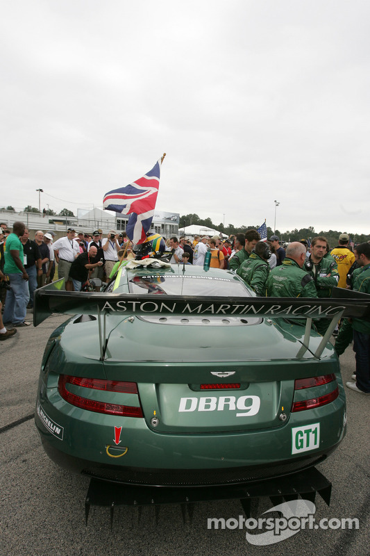 Aston Martin Racing Aston Martin DB9 on the starting grid