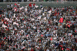 Fans at Suzuka ready for the race