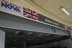 Garage area of Adam Carroll