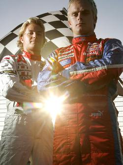 Photoshoot: Nico Rosberg and Heikki Kovalainen
