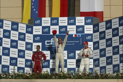 Podium: race winner Nico Rosberg with Ernesto Viso and Alex Premat