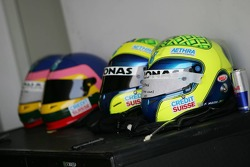 Helmets of Jacques Villeneuve and Felipe Massa