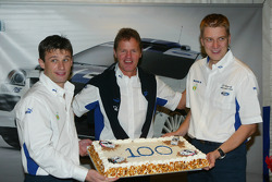 Malcolm Wilson celebrates the 100th WRC start for the Ford Focus