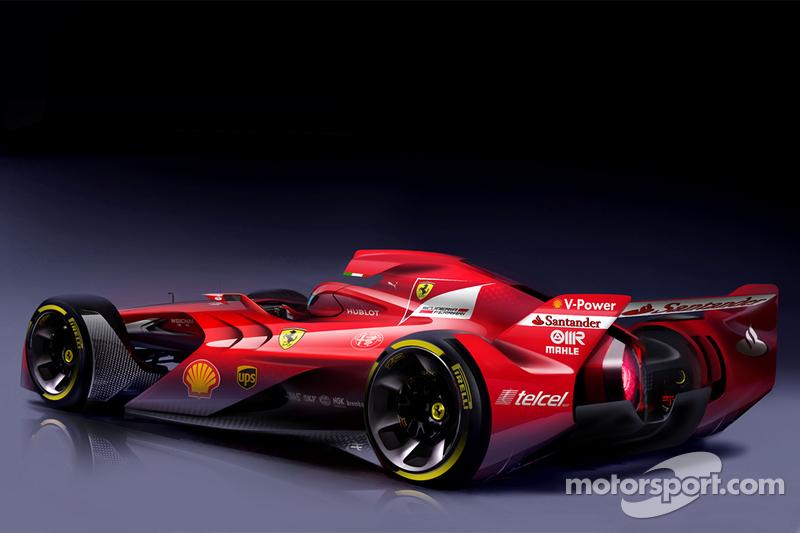 Conceito de Fórmula 1 feito pela Ferrari