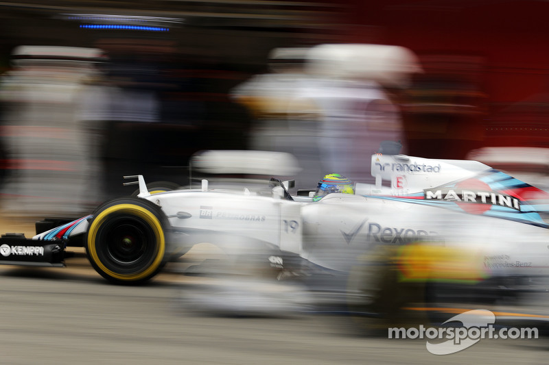 Felipe Massa, Williams FW37, beim Boxenstopp-Training