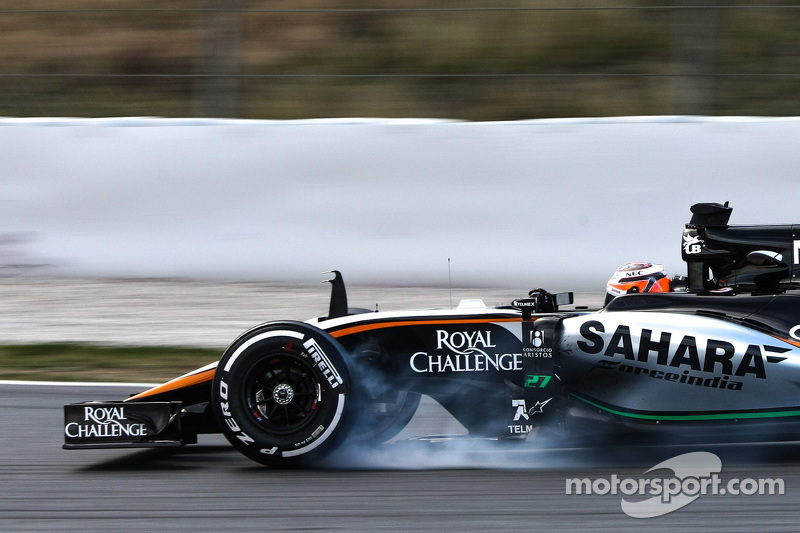 Nico Hülkenberg, Sahara Force India F1 VJM08, mit Verbremser