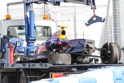 Crashed car of Dean Stoneman, DAMS