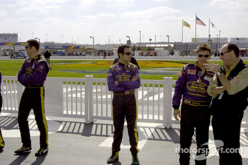 Max Papis, Helio Castroneves and Scott Pruett