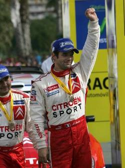 Rally winner Sébastien Loeb celebrates