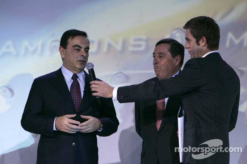 Renault chairman Carlos Ghosn and Renault F1 team president Patrick Faure