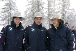Dirk Muller, Jorg Mueler and Sebastian Vettel