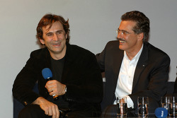Dr Mario Theissen (BMW Motorsport Director) with Alex Zanardi