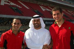 Sheikh Maktoum Hasher Maktoum Al Maktoum with Kalil Beschir and Basil Shabaan