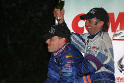 DP podium: champagne for Max Angelelli and Christian Fittipaldi