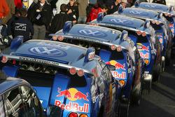 Team Volkswagen Motorsport at scrutineering