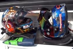 Andy Pilgrim, Jan Magnussen  helmets