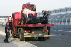 The new Red Bull Racing RB2 stopped on the track