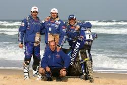 Michel Gau, Cyril Despres and David Casteu