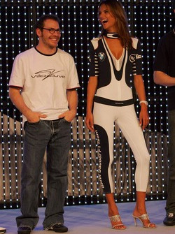 Jacques Villeneuve and Alessandra Ambrosio
