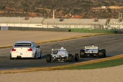 Nick Heidfeld in the BMW Sauber F1.06, Jorg Muller in the BMW 320si WTCC, Robert Kubica in the BMW 802