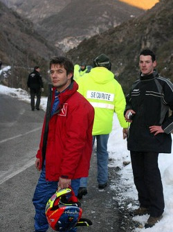 Sébastien Loeb after his crash