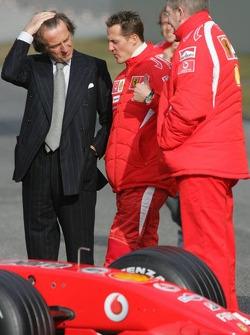 Luca di Montezemelo, Michael Schumacher and Ross Brawn