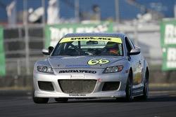 #66 SpeedSource Mazda RX-8: Marcelo Abello, Jose Armengol