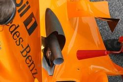 Detail of the new McLaren Mercedes MP4-21