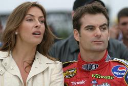 Jeff Gordon with girlfriend Ingrid