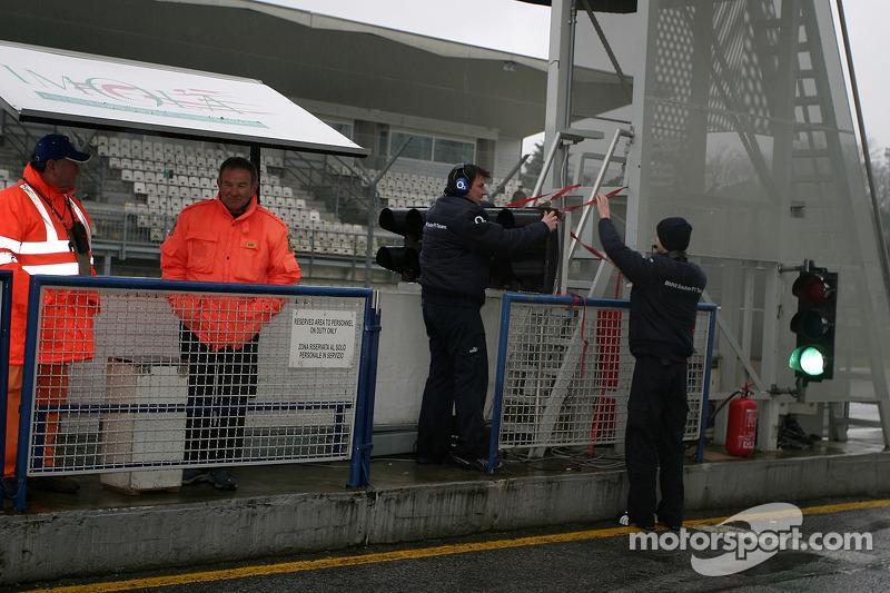 BMW team members at work