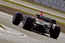 Markus Winkelhock test drives the Midland F1 car at Silverstone