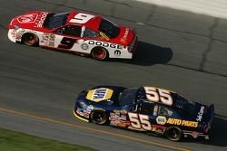 Kasey Kahne and Michael Waltrip
